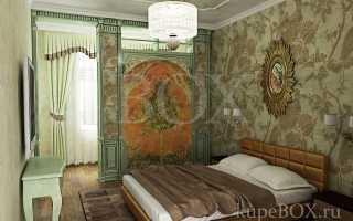 Спальня-кабинет в доме
