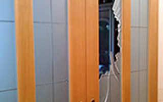 Замена стекла межкомнатной двери