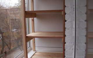 Как своими руками сделать шкаф на балкон: технология сборки
