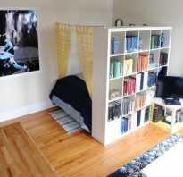 5 разновидностей шкафов перегородок как зонирование комнаты