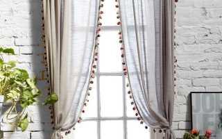 Льняные шторы: природная элегантность и экологичность (фото)
