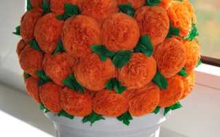 Топиарий из салфеток своими руками: простой мастер-класс с пошаговыми инструкциями на примере изготовления розы