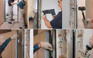 Как вставить входную дверь своими руками