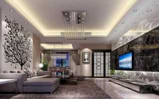 Как сделать двухуровневый потолок из гипсокартона