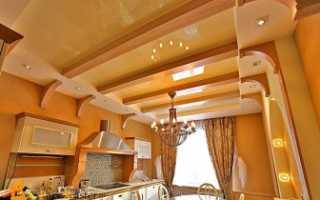Современный дизайн потолков на кухне с фото примерами готовых образцов