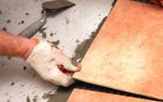 Укладка напольной плитки и затирка швов