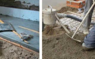 Как залить пол бетоном в загородном доме
