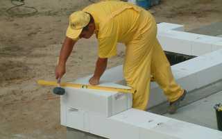 Кладка газосиликатных блоков: порядок работы, стоимость