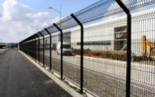 Забор из сварной металлической сетки своими руками
