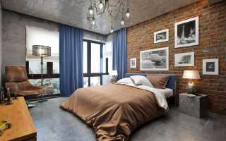 Освещение в спальне стиле лофт