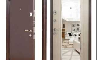 Как приклеить зеркало на входную дверь