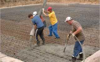 Заливка бетона послойно