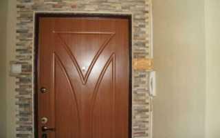 Как отделать дверной проем входной двери после ее установки