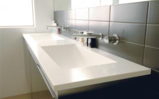 Интегрированные раковины в цвет столешницы для ванной комнаты — модели и размеры Капельник в подарок