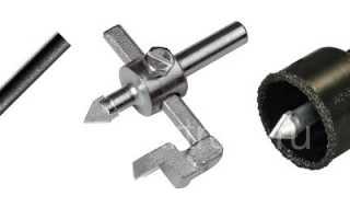 Как сверлить керамическую плитку