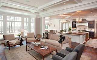 Дизайнерские приемы: кухня, гостиная и столовая в одном помещении