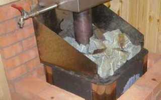 Каким кирпичом обложить печь банную из металла