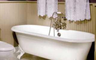 Сколько весит чугунная ванна и какого она размера