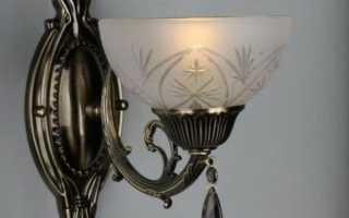 Бра в прихожую на стену; светильники в коридор над зеркалом
