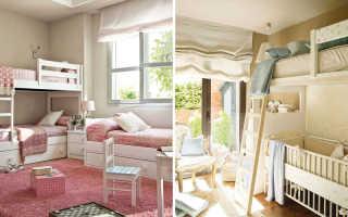 Двухъярусная кровать в интерьере детской: идеи 80 фото