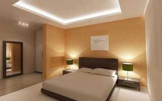 Виды и особенности применения подвесных потолков в спальне