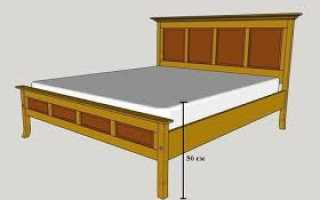 Какой должна быть высота кровати