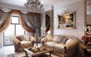 Гостиная в классическом стиле; 57 фото в интерьере