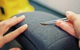 Как зашить лопнувшую ткань на диване и заделать дырку