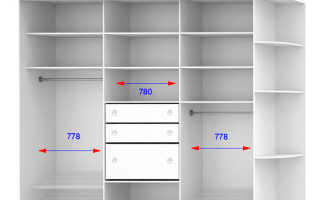 Размеры шкафа купе