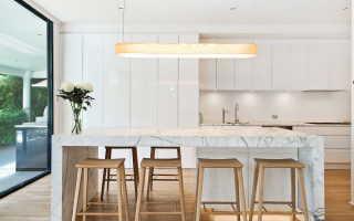 Светлая кухня — как выбрать цвет стен, пола, шторы