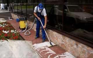 Средства для очистки тротуарной плитки