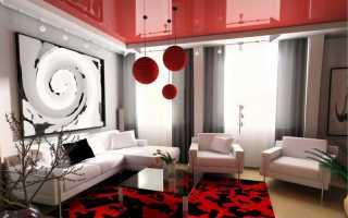 Натяжные потолки в гостиной; 80 фото необычного дизайна в современном стиле