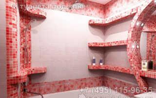 Встроенные полочки и ниши в интерьере ванной комнаты