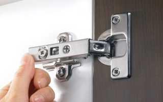 7 видов петель на двери шкафа и их правильная установка