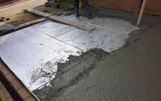 Пол из бетона в частном доме