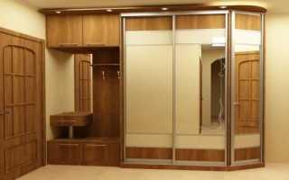 Дизайн гардеробного шкафа в прихожей