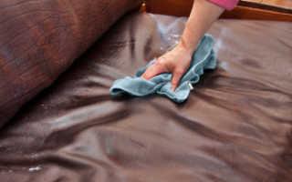 Чем отмыть ручку с кожаного дивана