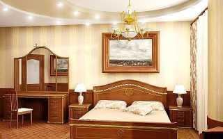 Потолок в спальне; варианты дизайна