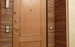 Отделка откосов после установки входной двери