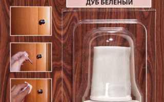 Как удалить с мебели царапину, скол, вмятину