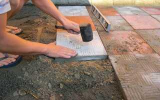 Какой цемент нужно использовать для тротуарной плитки
