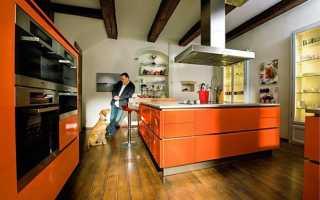 Стоит ли использовать оранжевый цвет на кухне