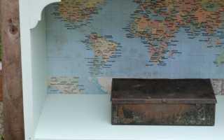 Декор задней стенки шкафа, стеллажа или перегородки как дизайнерский прием