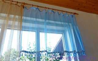 Как самостоятельно сшить красивую тюль на окна