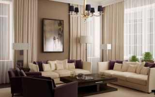 Какой стиль и цвет штор выбрать в гостиную