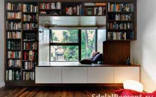Шкаф вокруг окна; оригинальные идеи оформления