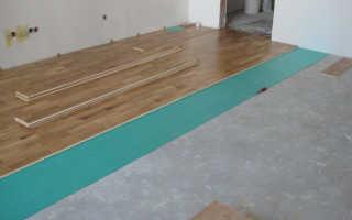 Как положить ламинат на бетонный пол правильно