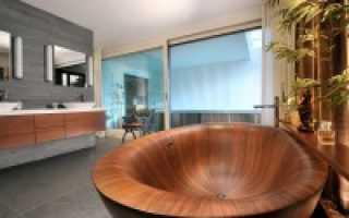 Деревянная ванна – эксклюзив в вашей ванной