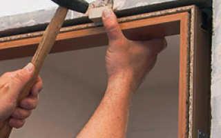 Как установить коробку для межкомнатной двери