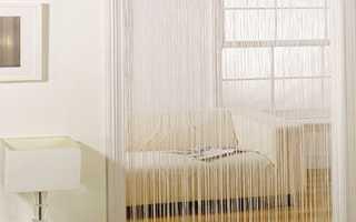 Вешаем шторы вместо межкомнатных дверей: идеи оформления